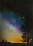 "Night Sky,                        airbrush, 18""x24"""